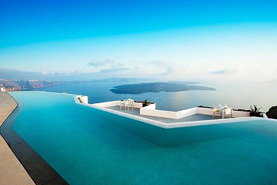 Piscina infintas de Santorini, Grecia