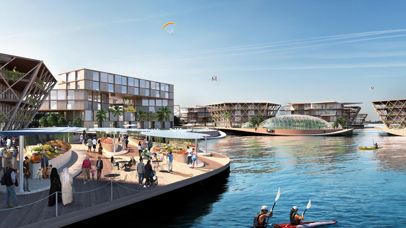 La ciudad puede cobijar a unos 10.000 habitantes / Oceanix City