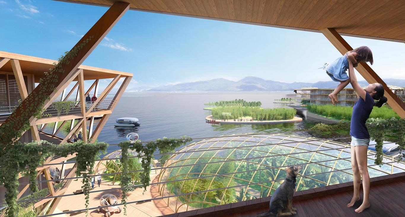 El prestigioso estudio de arquitectura Bjarke Ingels Group (BIG) ha sido el responsable del diseño / Oceanix City