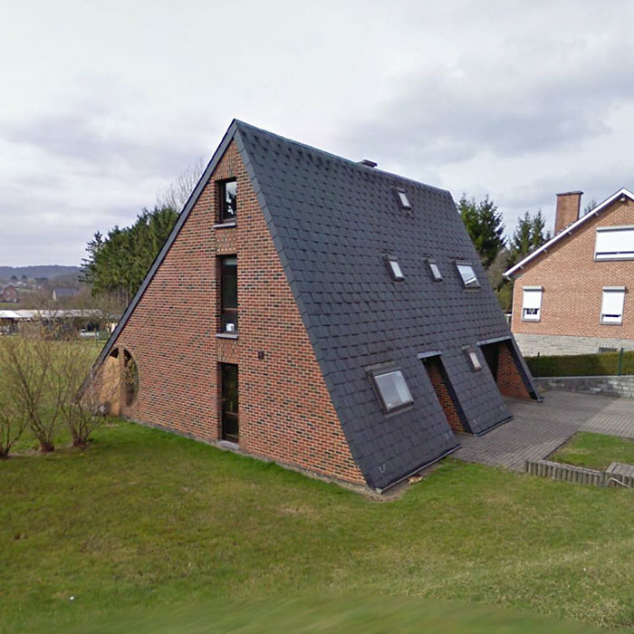 Un tejado-casa / Ugly Belgian Houses