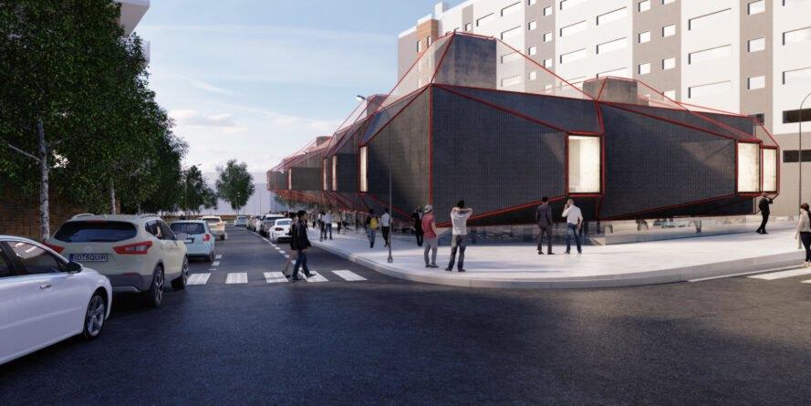 El lado este del edificio contará con un huerto urbano