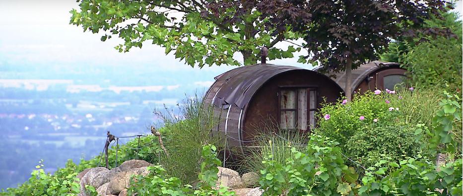 Escondidos entre los viñedos / Schlafen im Weinfass