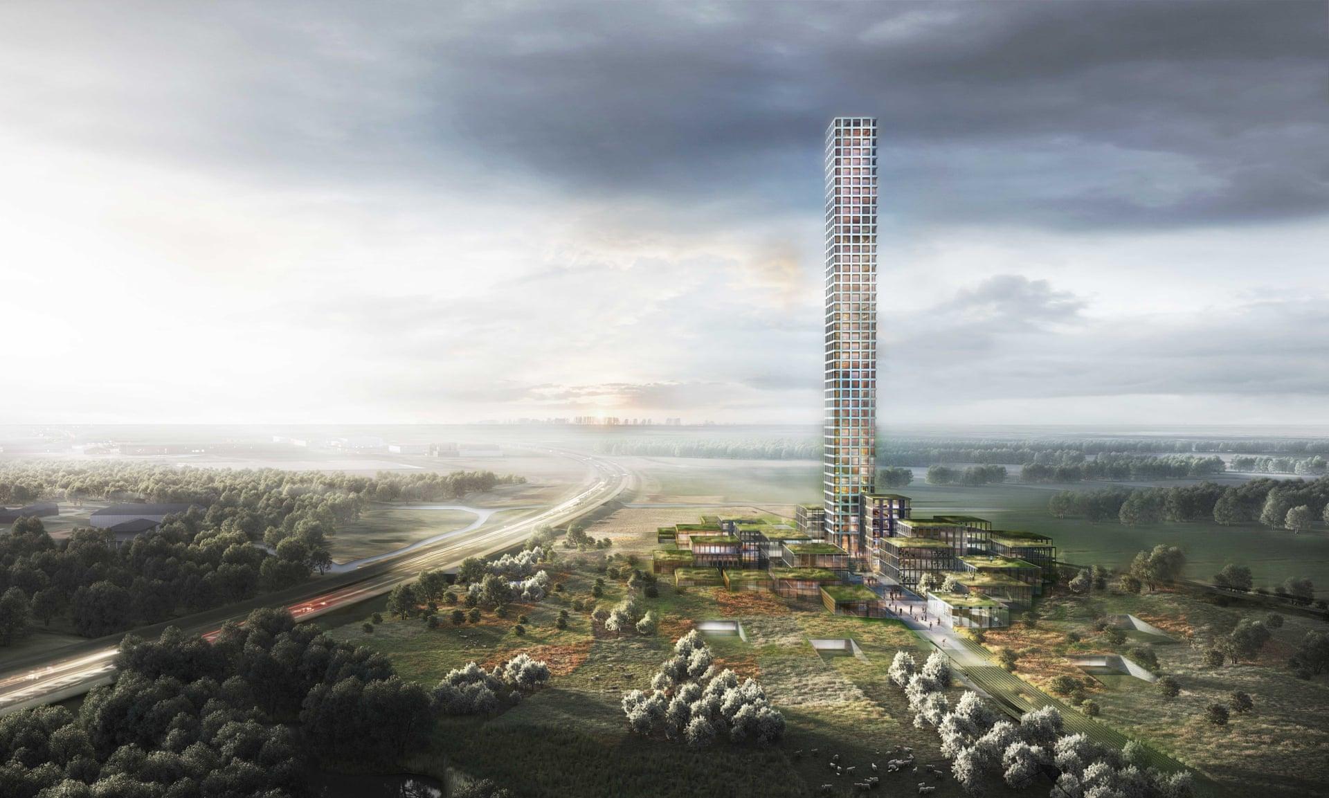 El edificiose levantará sobre Brande, una pequeña ciudad de 7.000 habitantes en Jutlandia, Dinamarca / Dorte Mandrup