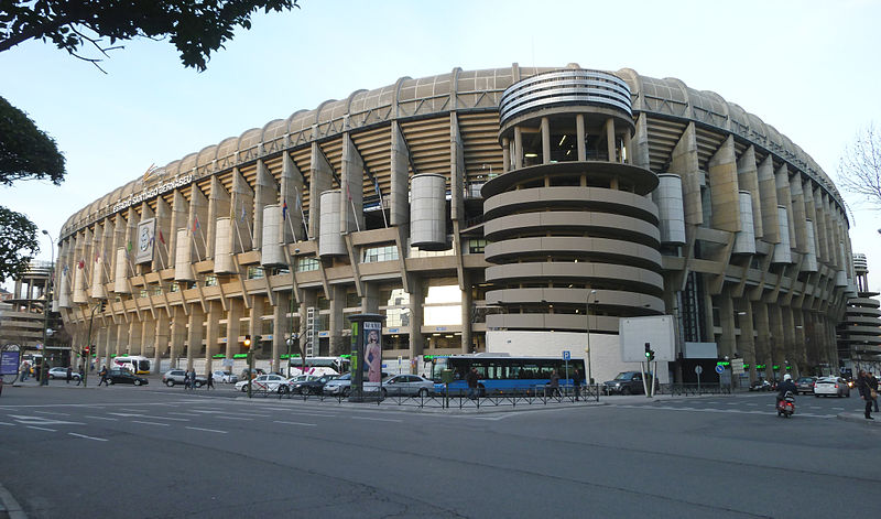 Estadio del Real Madrid - Santiago Bernabéu / Wikimedia commons