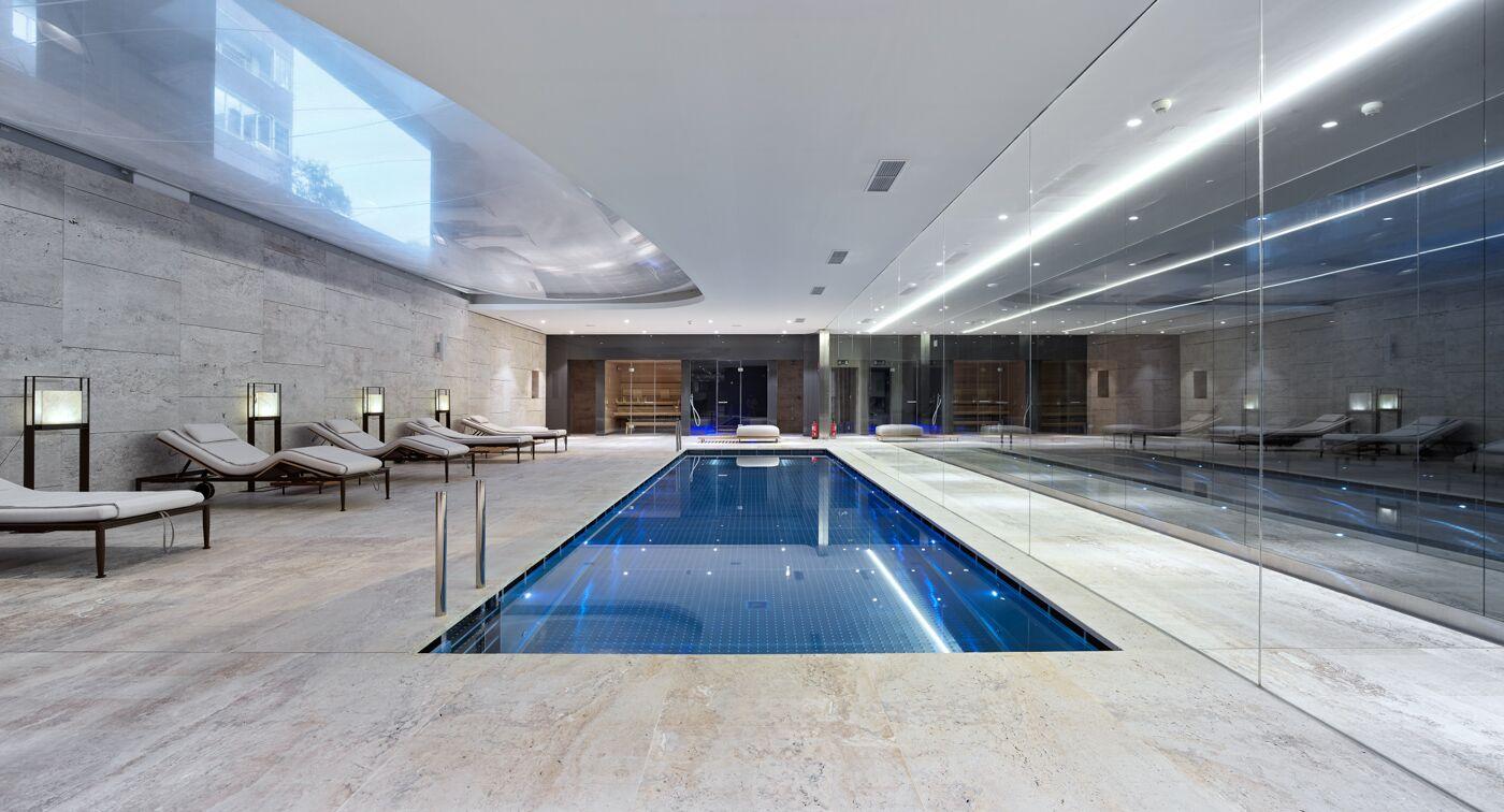 Es la segunda piscina del edificio