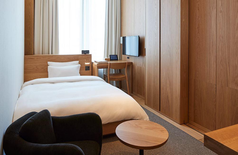 El complejo apuesta por la simplicidad como punto fuerte / MUJI HOTEL GINZA