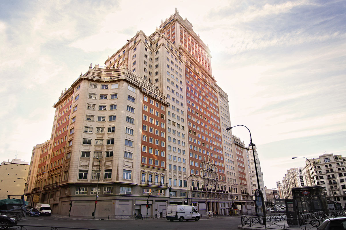 Vista del Edificio España, en Madrid