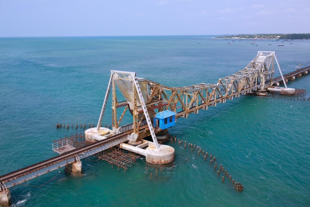 Puente ferroviario Pamban, India