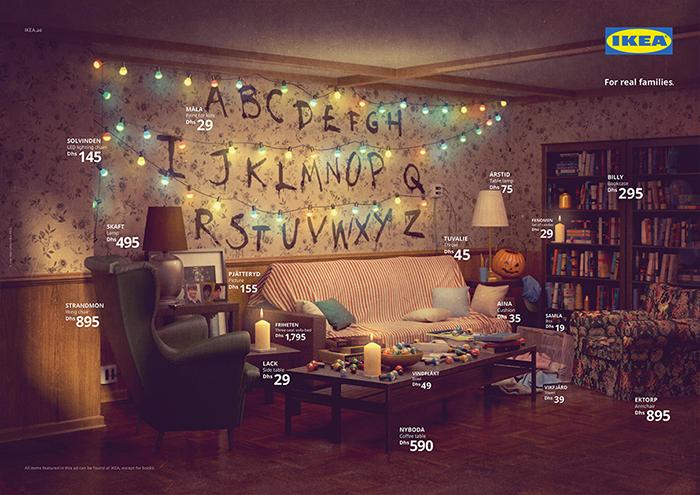 Decoración de la serie Stranger Things / Designboom