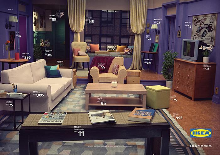 El mítico salón de Friends / Designboom
