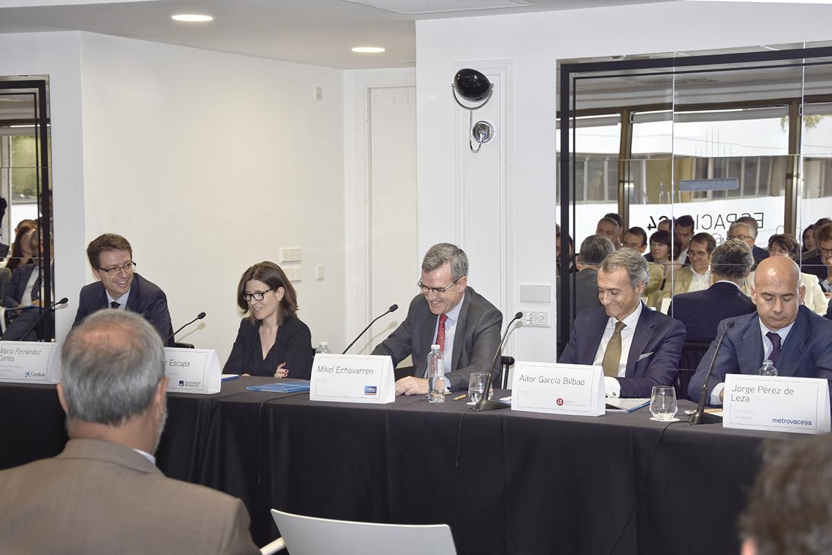 Los ponentes que han participado en la mesa redonda organizada por Colliers International / Colliers International