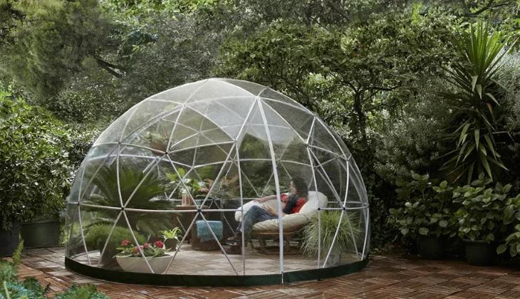 Casa para el jardín con cúpula geodésica / Amazon