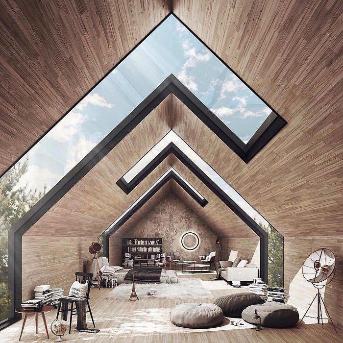 Ventanas que se adecuan a la forma del tejado / Topdezigners
