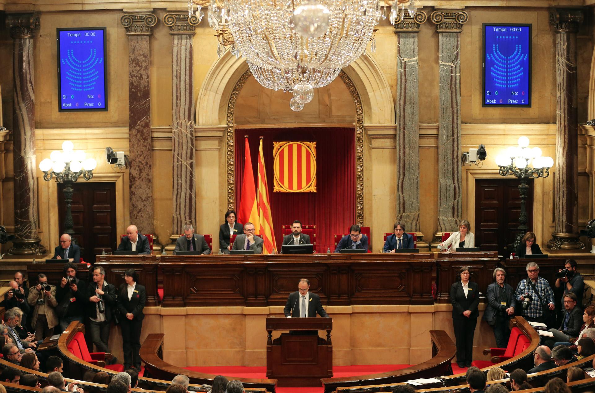 Vista de una sesión de pleno en el Parlamento / Gtres