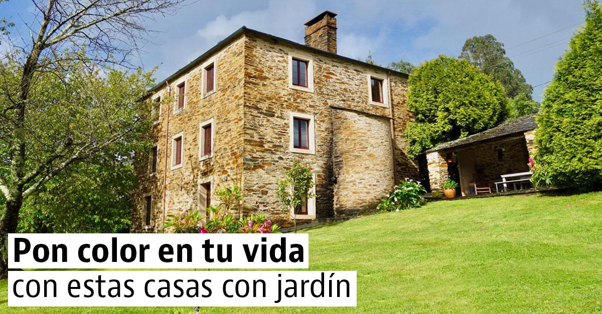 Venta de casas con jardín