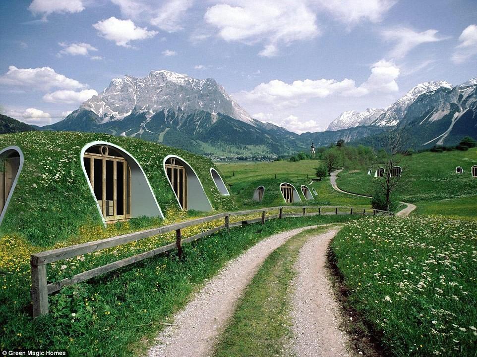 Casas prefabricadas subterráneas