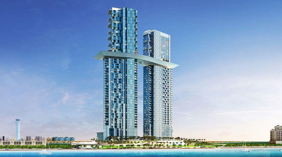 Dos torres de 52 plantas con una piscina espectacular
