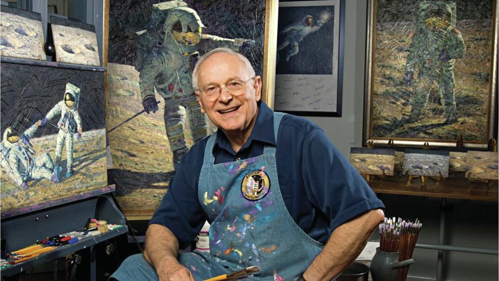 Alan Bean, el único humano que tuvo la oportunidad de contemplar con sus propios ojos los paisajes lunares y representarlos