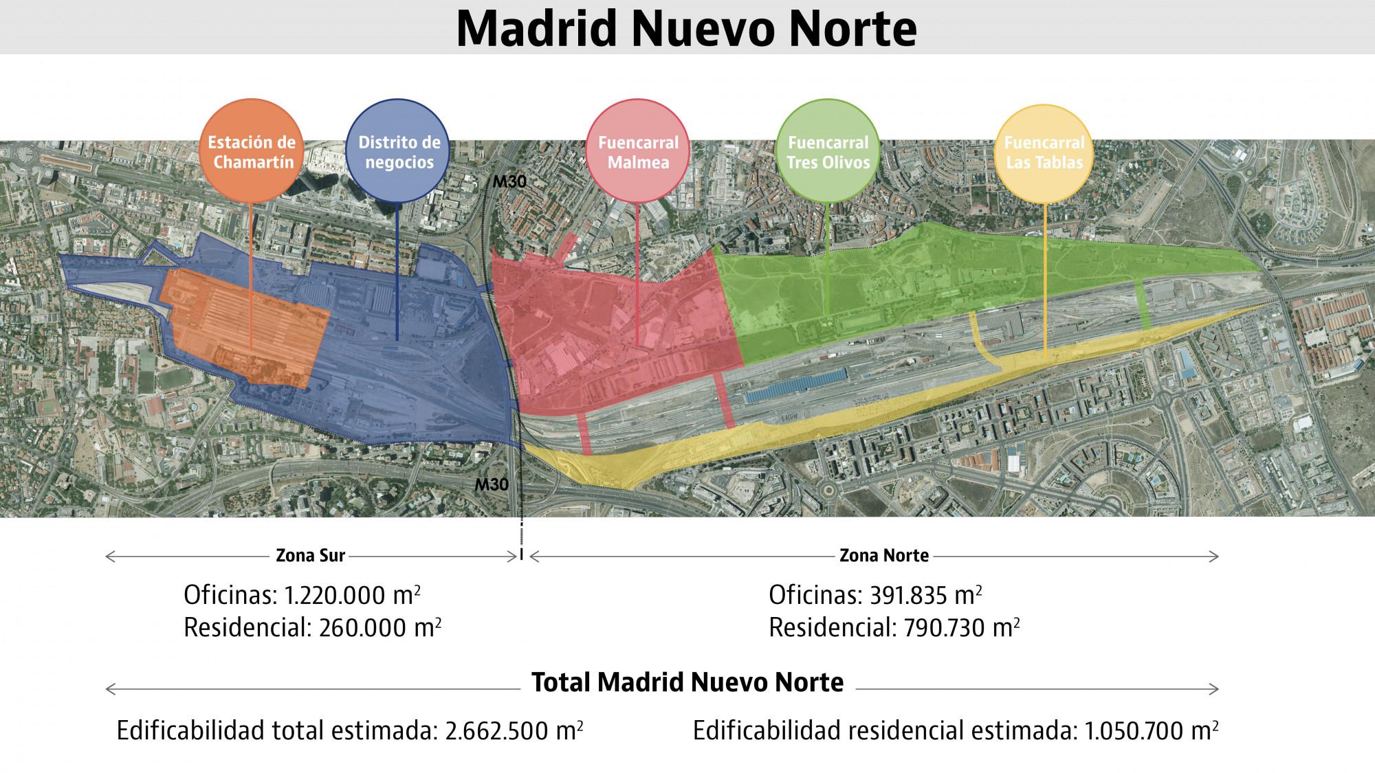 Plano por zonas / Ministerio de Fomento