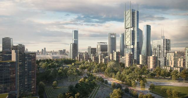 Nuevo skyline de la capital / DCN