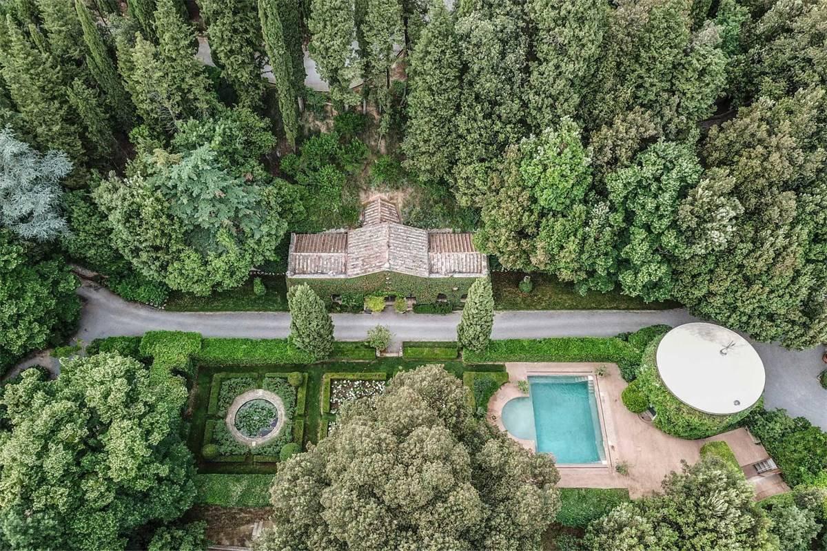 La villa de Valentino en Toscana