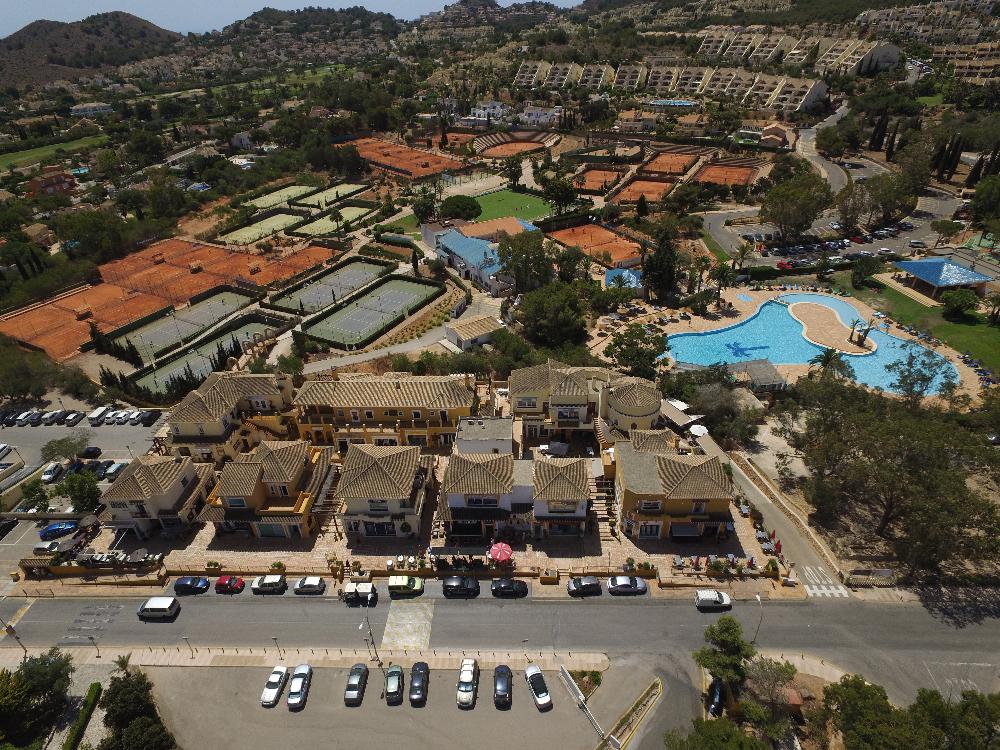 Vista aérea zona de tenis / La Manga Club