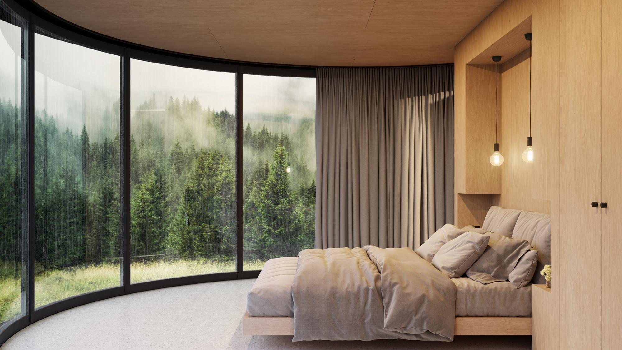 La madera y los tonos claros dan calidez