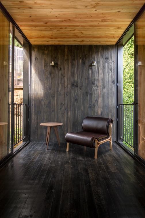 La madera, clave en el interior