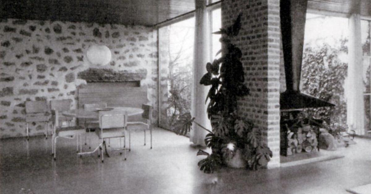 Salón y chimenea / Fundación Miguel Fisac