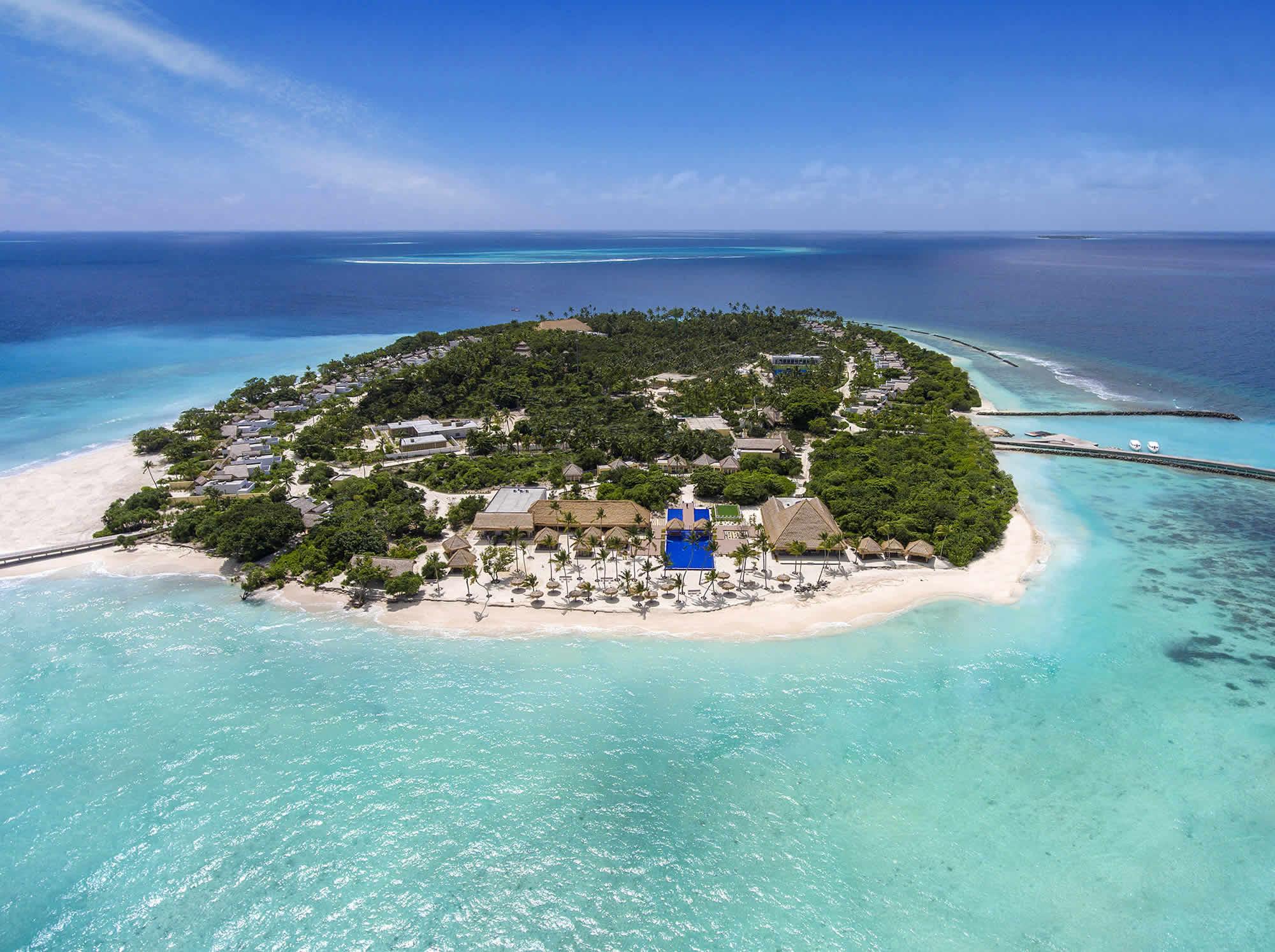 El resort está rodeado de 1,5 km de playa