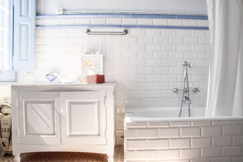 Uno de los lavabos de Casa Blaua