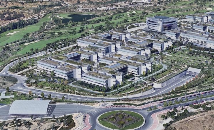 Ciudad Financiera de Santander en Boadilla del Monte (Madrid) / Google Maps