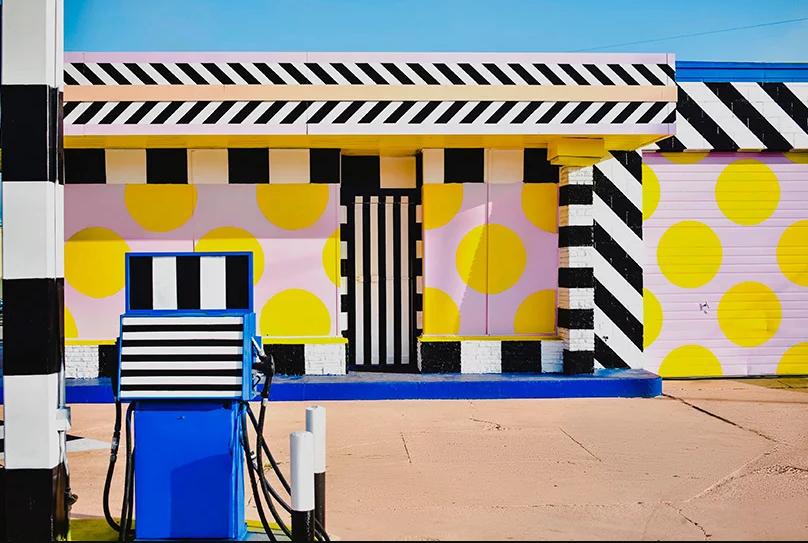 Un ejemplo de arte urbano modernista