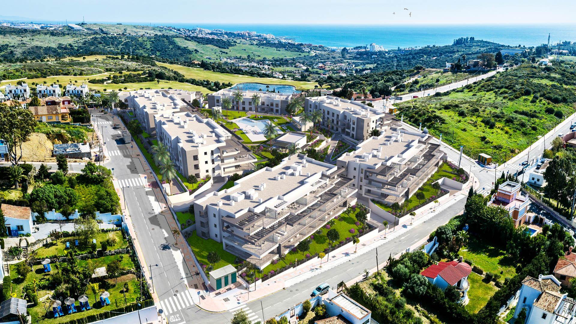 Vista panorámica de la urbanización