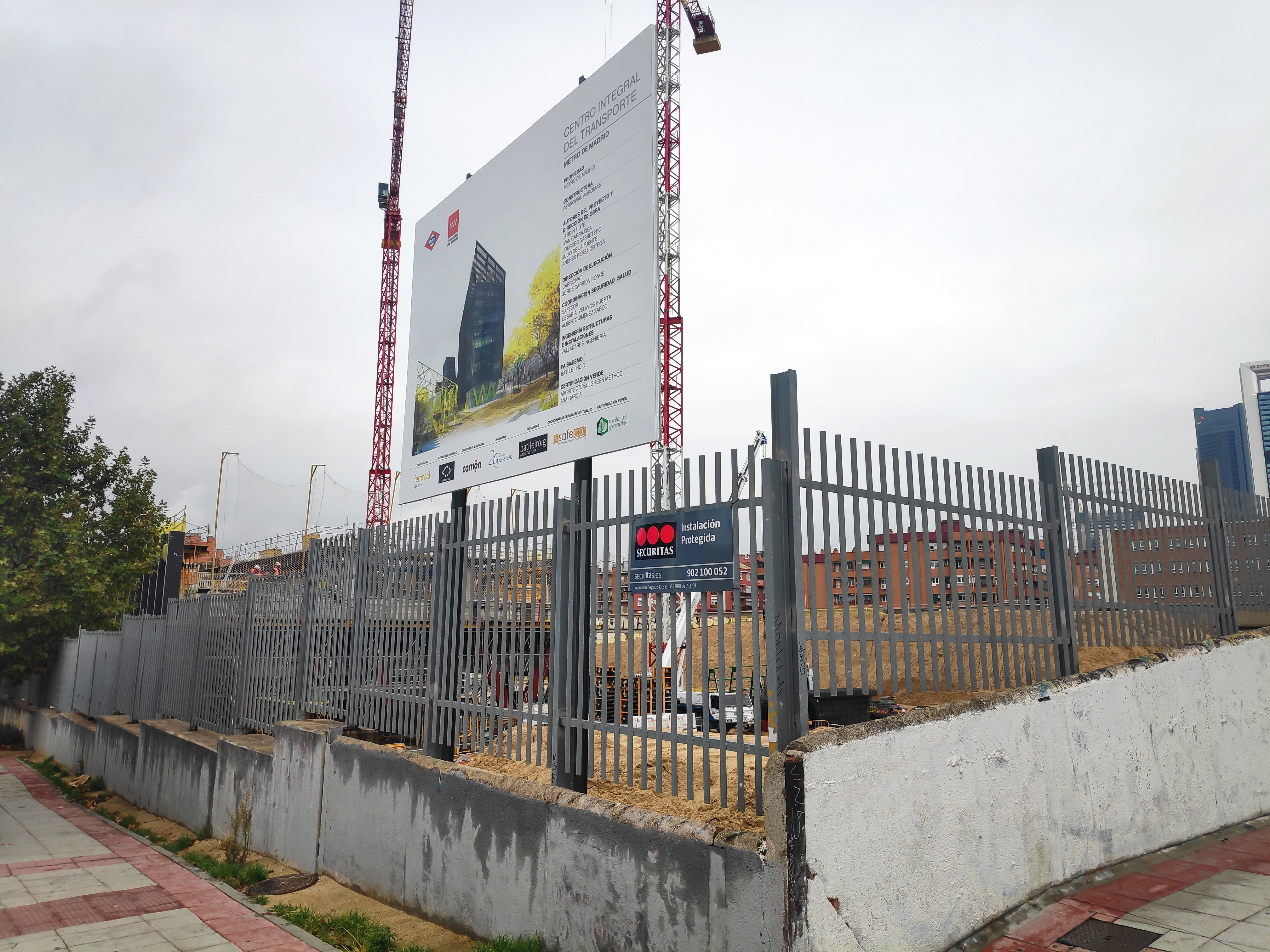 Construcción de la nueva sede del Metro.
