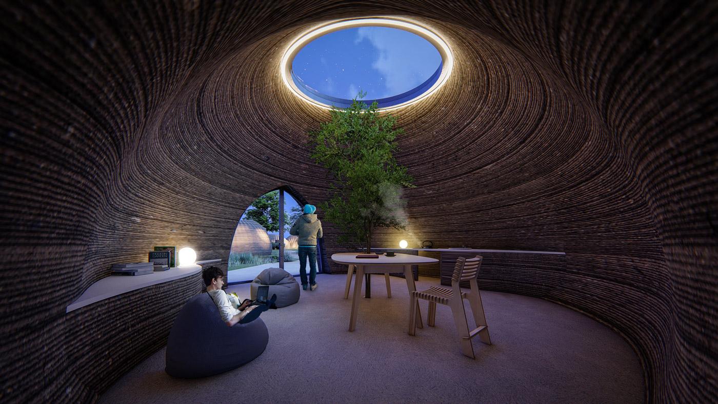 Las cúpulas crean un espacio abierto / Wasp|Mario Cucinella Architects