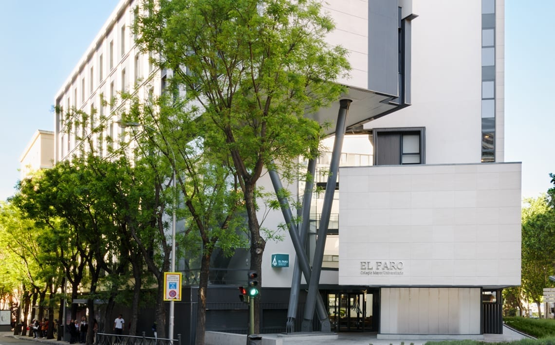 Fachada de la residencia 'El Faro' (Madrid). / GSA.