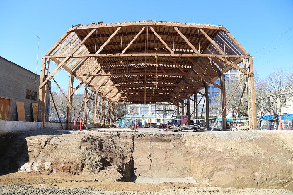 Nueva construcción que une las dos estructuras