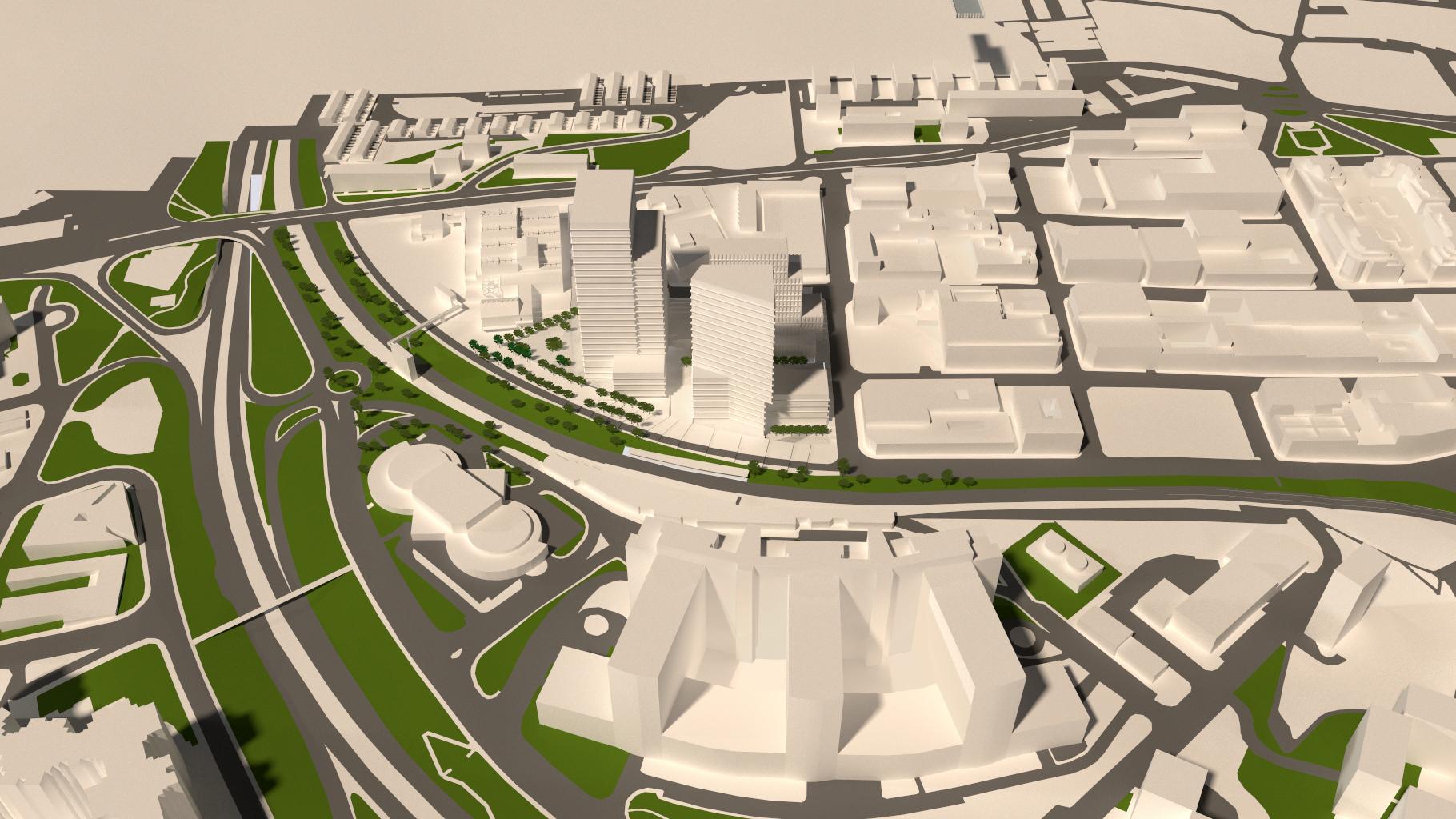 Proyecto de Metrovacesa para la antigua fábrica de Clesa.  / Metrovacesa