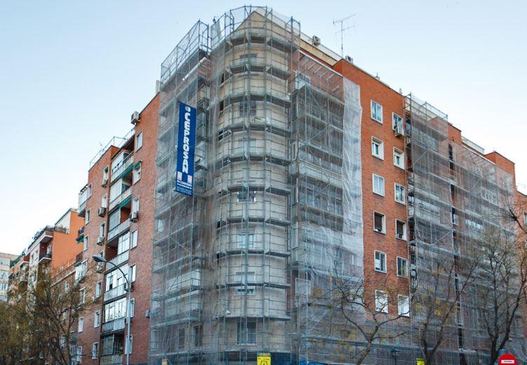 Edificio en rehabilitación. / Ceprosan