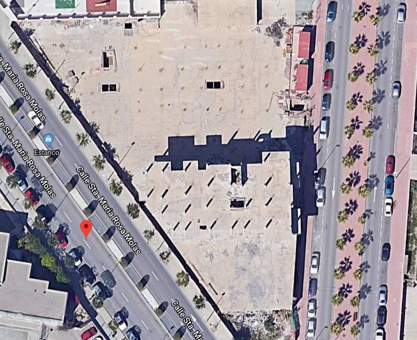 Imagen aérea del solar.  / Google Maps