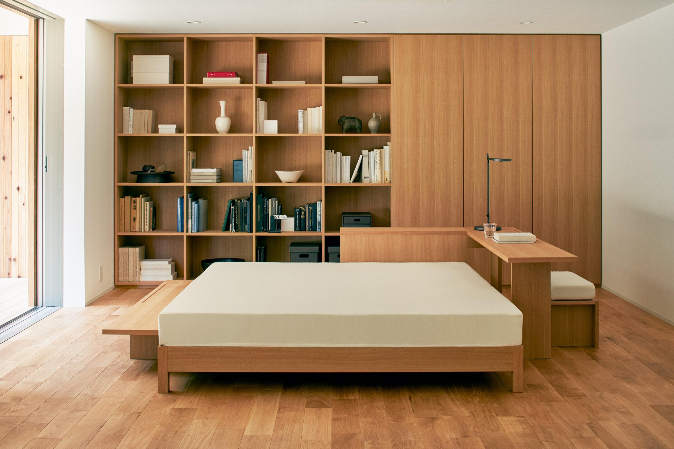 Un dormitorio minimalista