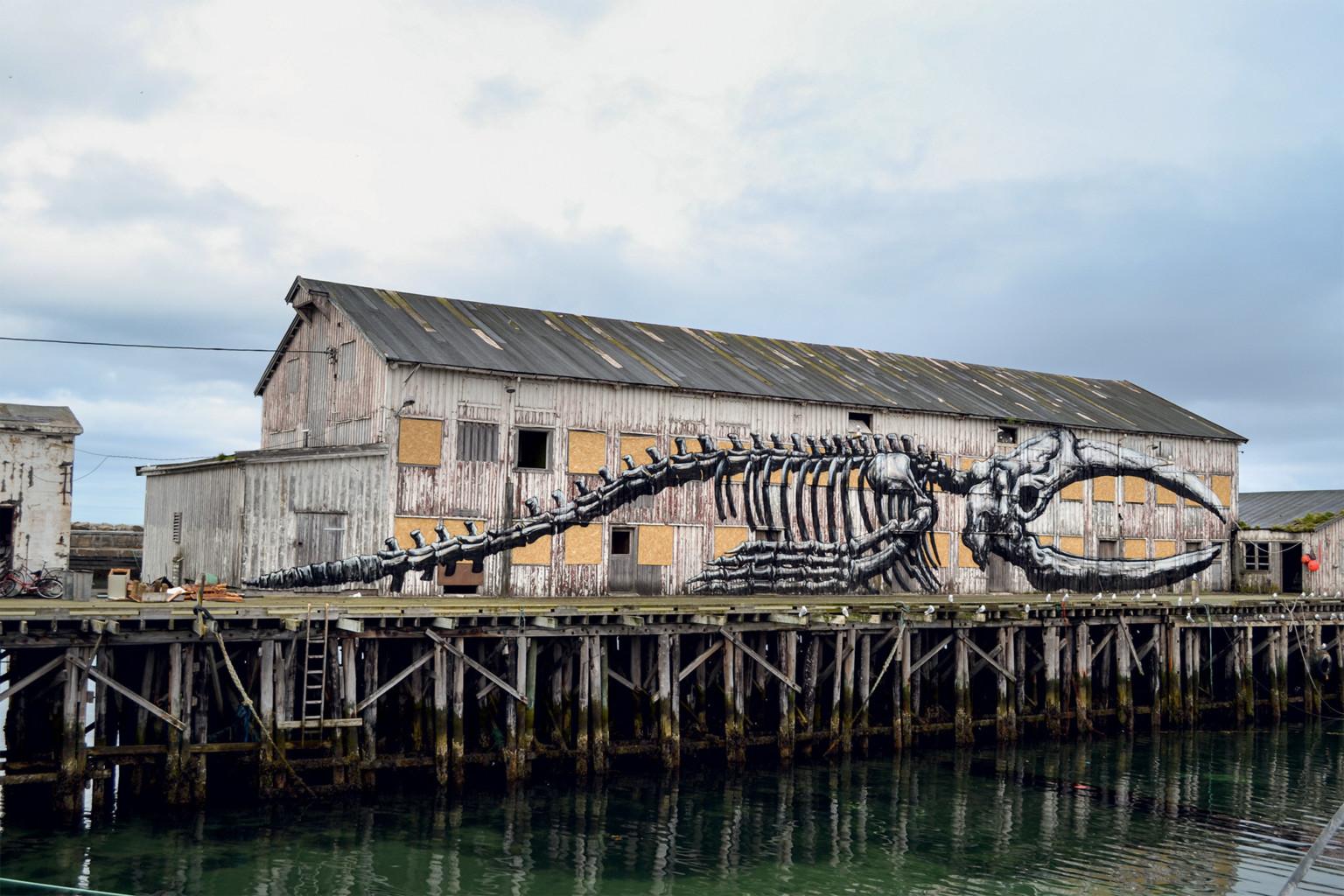 Resto de ballena en Vardo (Noruega) / © ROA