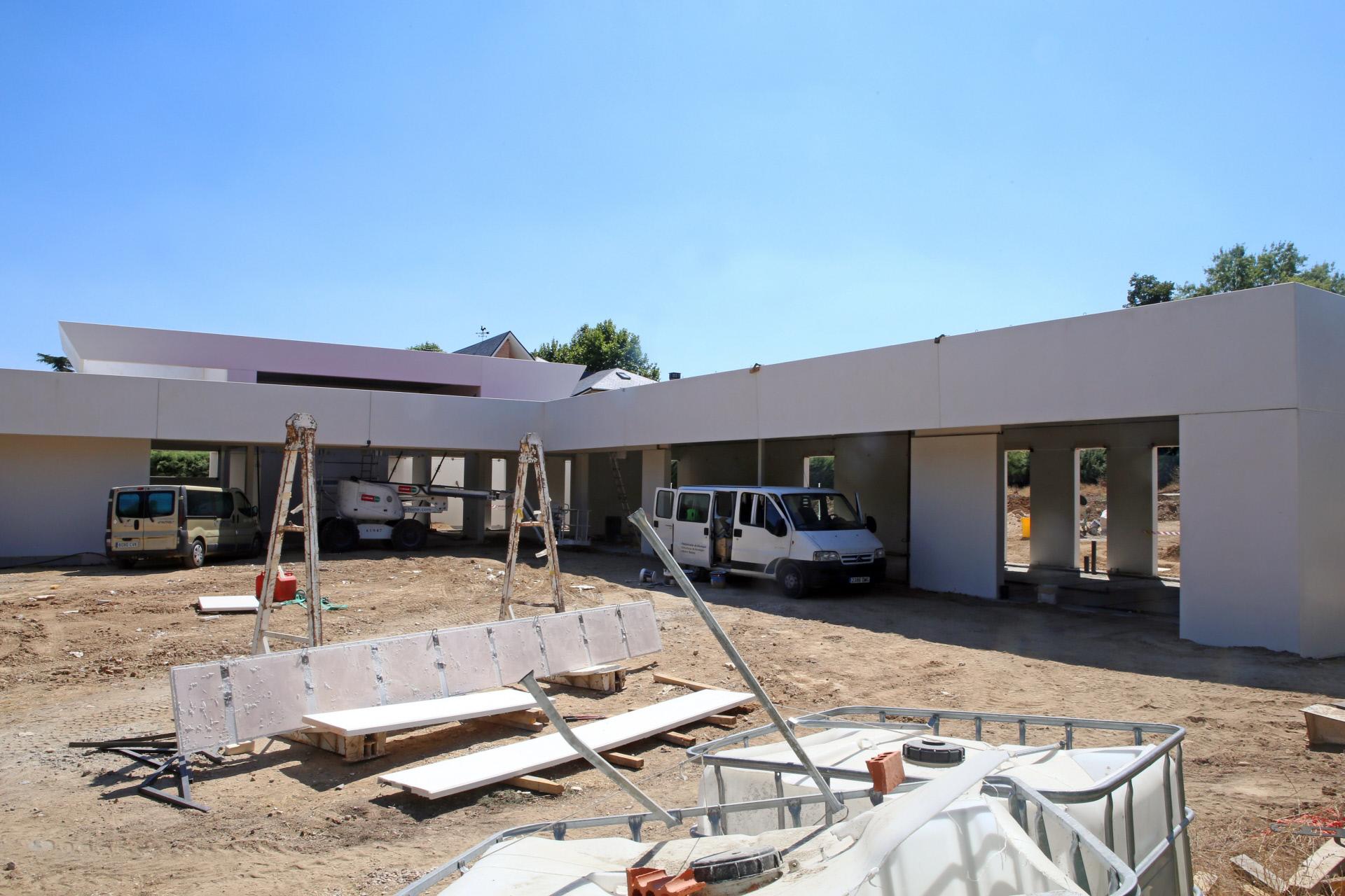 La construcción de una vivienda en Villanueva de la Cañada (Madrid) / Gtres