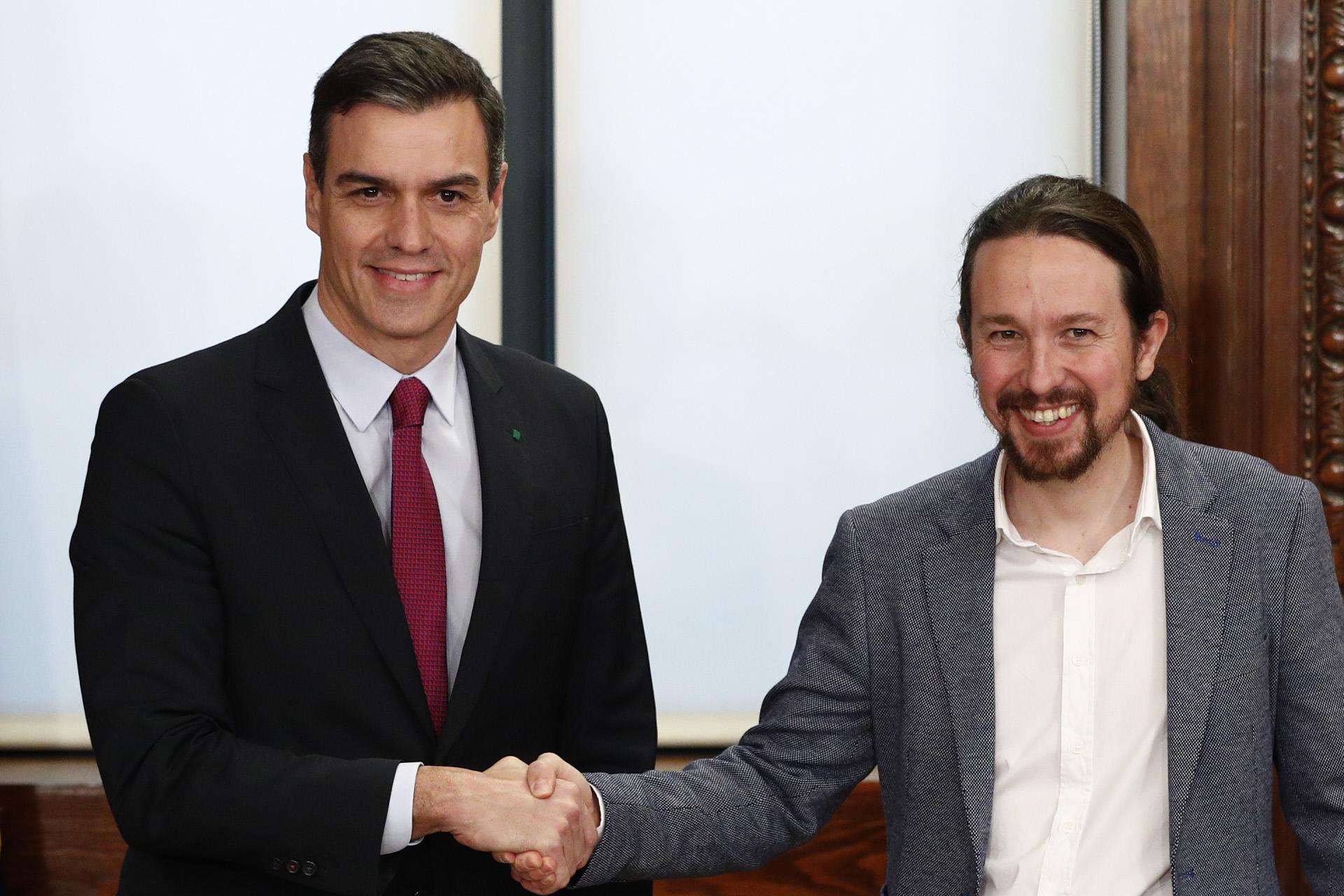 Pedro Sánchez y Pablo Iglesias / Gtres