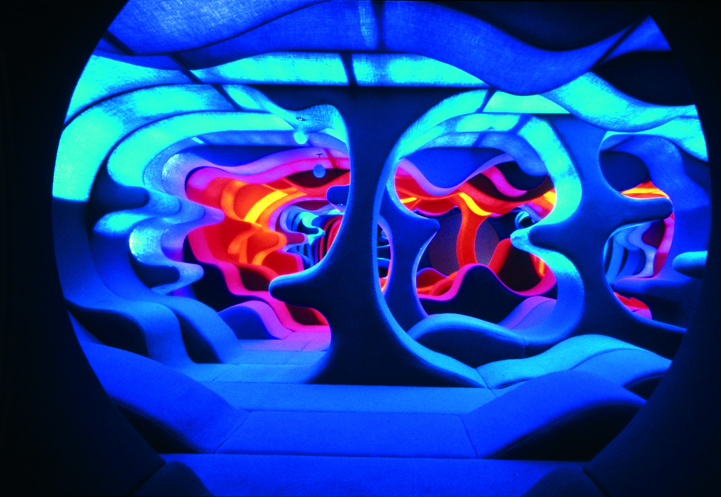 Verner Panton, Phantasy Landscape at the exhhibition Visiona 2, Cologne, Germany, 1970