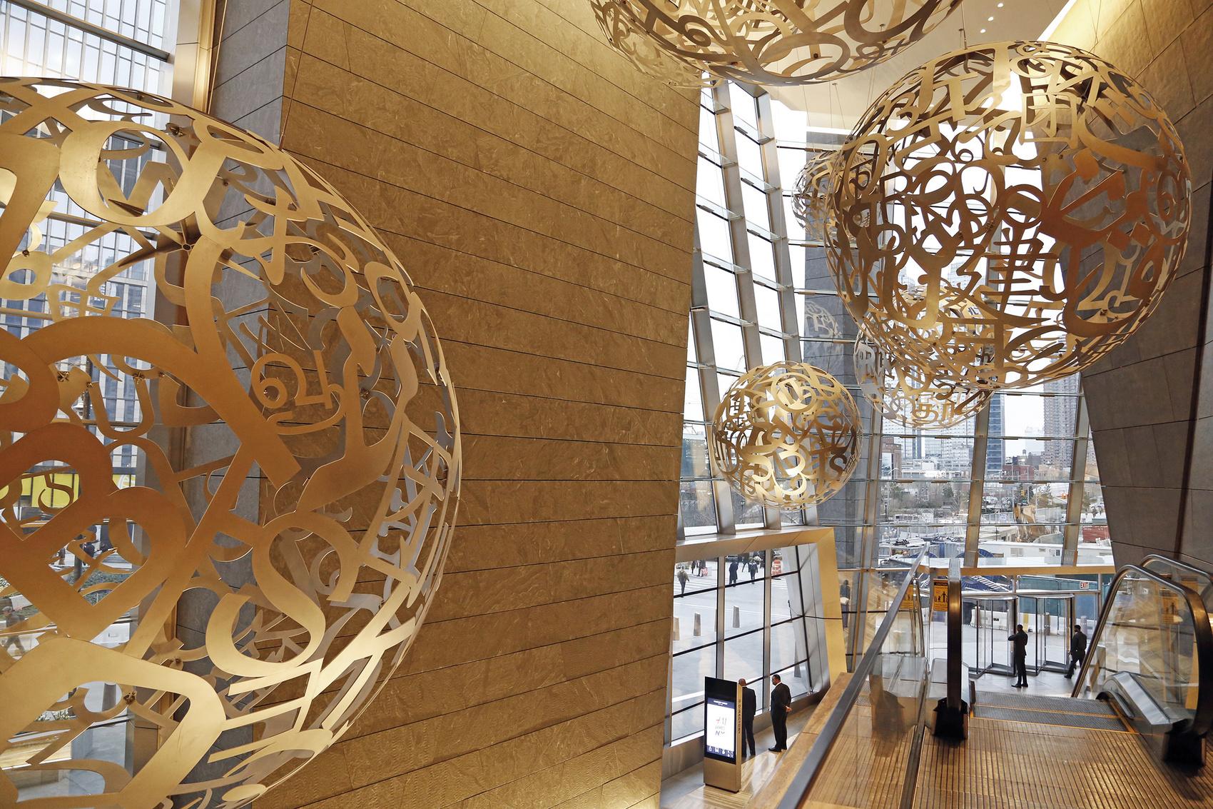 El lobby de un edificio de Hudson Yard