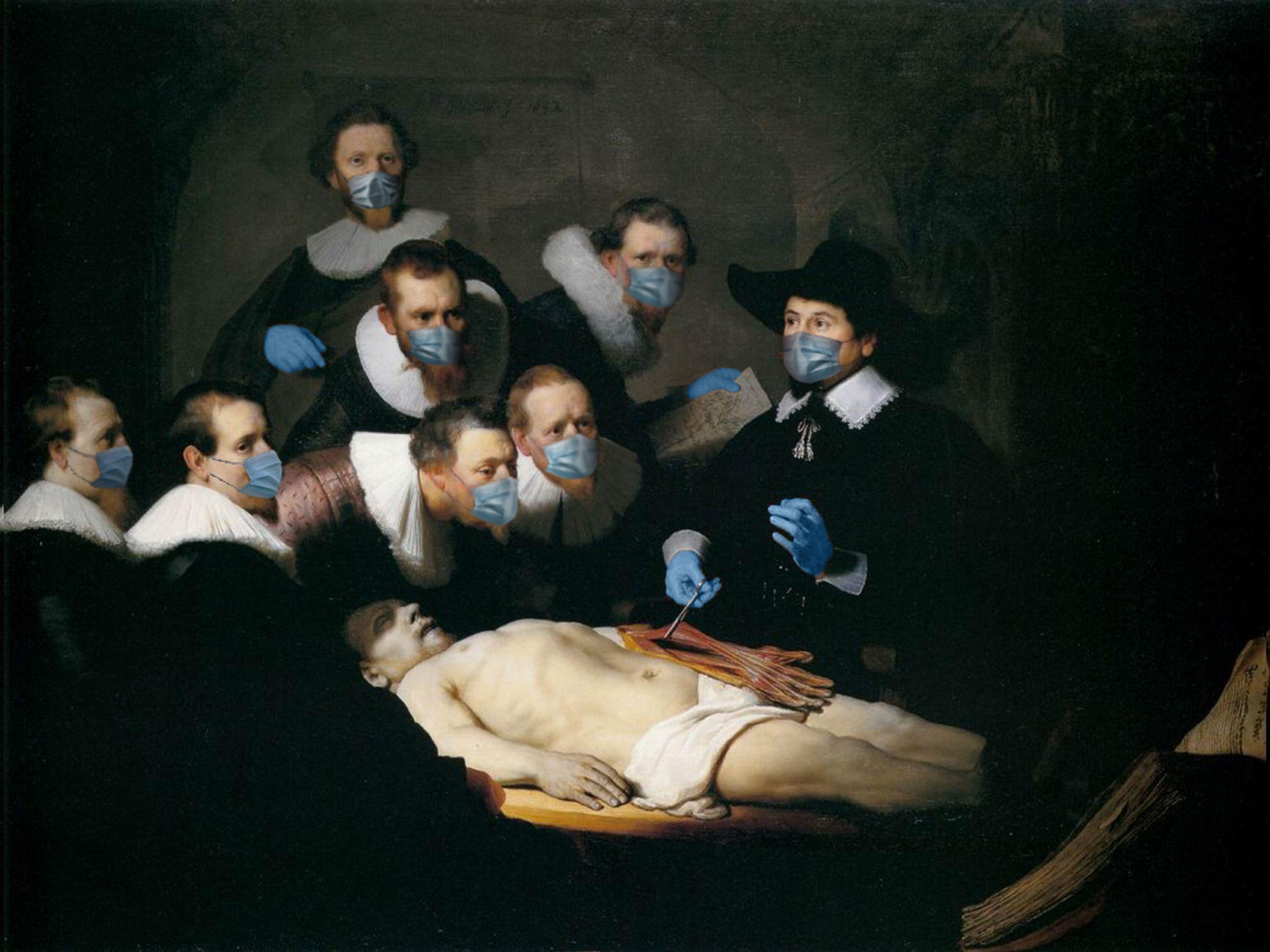 La lección de anatomía del Dr. Nicolaes Tulp / Rembrandt/POA Estudio