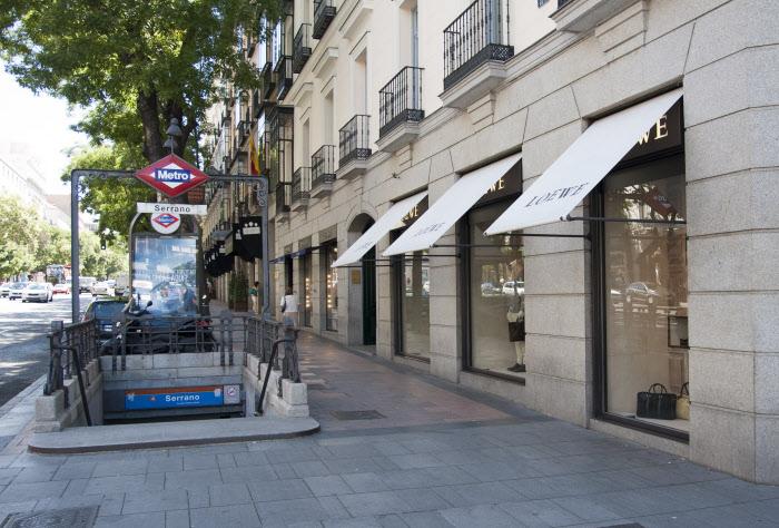 Calle Serrano (Madrid), una de las más comerciales de la capital.  / Gtres
