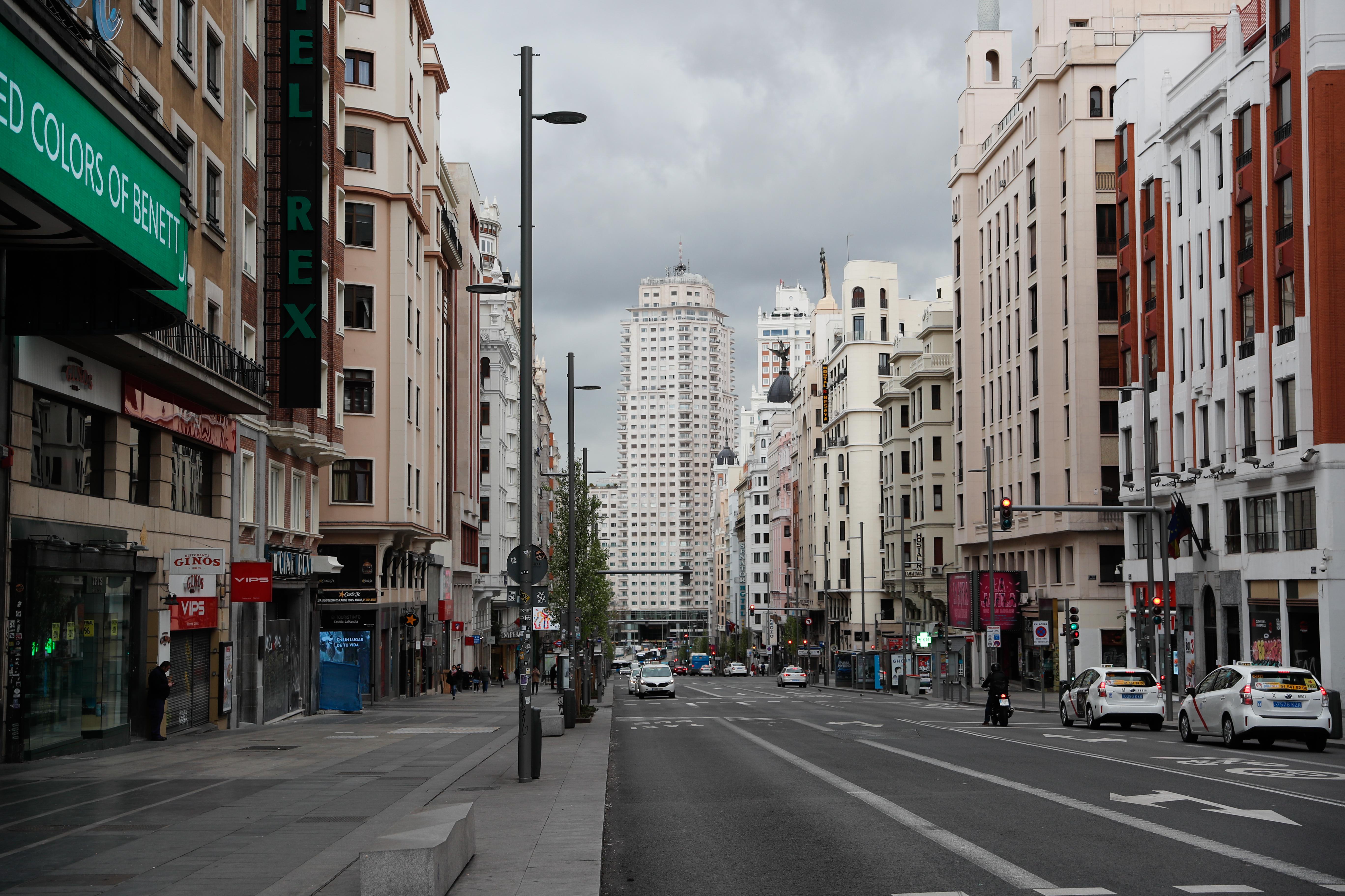 La Gran Vía de Madrid prácticamente vacía / Gtres